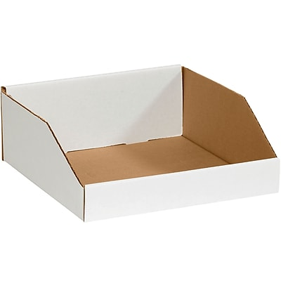 Partners Brand Open Top Bin Boxes, 18