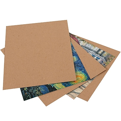 "Heavy-Duty Chipboard Pads, 8 1/2"" x 14"", Kraft, 575/Case (CPHD8514)"