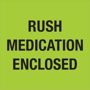 "Tape Logic® Labels, ""Rush - Medication Enclosed"", Fluorescent Green, 500/Roll (DL1338)"