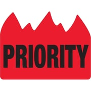 """Tape Logic® Flame Labels, """"Priority"""" (Bill of Lading), 1 1/2"""" x 2"""", Red/Black, 500/Roll (DL1391)"""