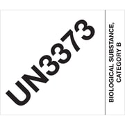 "Tape Logic® Labels, ""UN3373 Biological Substance Category B"", 4"" x 4 3/4"", Black/White, 500/Roll (DL1404)"