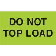 "Tape Logic® Labels, ""Do Not Top Load"", 3"" x 5"", Fluorescent Green, 500/Roll (DL2345)"