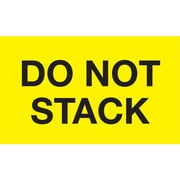 "Tape Logic® Labels, ""Do Not Stack"", 3"" x 5"", Fluorescent Yellow, 500/Roll (DL2346)"