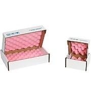 """Anti-Static Foam Shippers, 10"""" x 10"""" x 4"""", Pink/White, 24/Case (FSA10104)"""