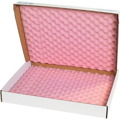 Pink//White Pack of 24 Partners Brand PFSA1062 Anti-Static Foam Shippers 10 x 6 x 2