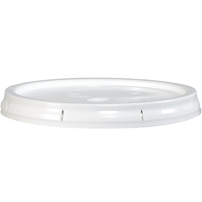 Plastic Lid, 5 Gallon, White, 1/Each (HAZ1076LID)