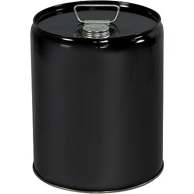 Metal Pail, Closed Head, 5 Gallon , Black, 1/Each (HAZ1077)