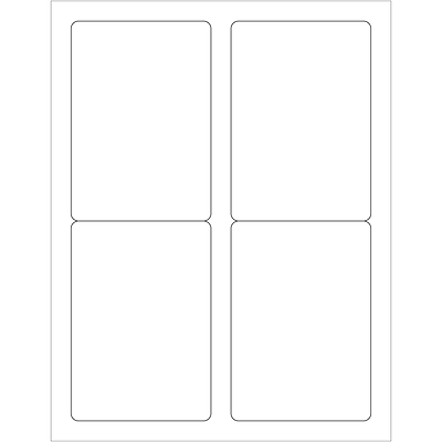 "Tape Logic® Laser Labels, Rectangle, 3 1/2"" x 5"", White, 400/Case (LL119)"