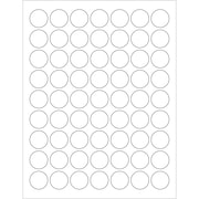 "Tape Logic® Circle Laser Labels, 1"", Glossy White, 6300/Case (LL300)"