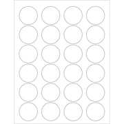 "Tape Logic® Circle Laser Labels, 1 5/8"", Glossy White, 3000/Case (LL207)"