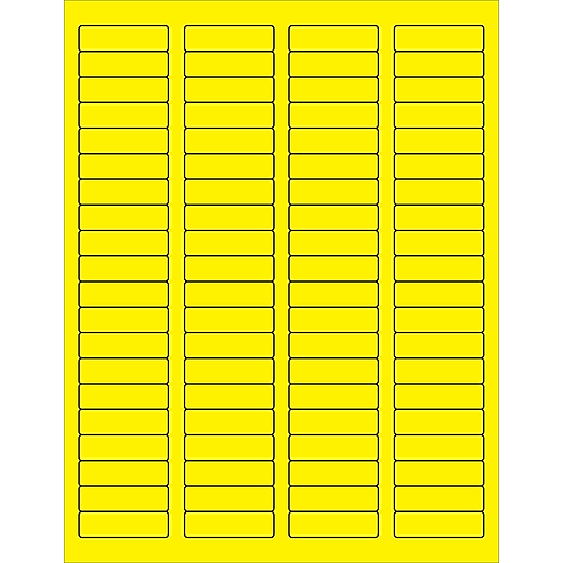tape logic rectangle laser labels 1 3 4 x 1 2 fluorescent