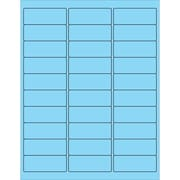"Tape Logic® Rectangle Laser Labels, 2 5/8"" x 1"", Pastel Blue, 3000/Case (LL173BE)"