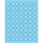 "Tape Logic® Circle Laser Labels, 1"", Pastel Blue, 6300/Case (LL191BE)"