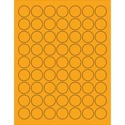 """Tape Logic® Circle Laser Labels, 1"""", Fluorescent Orange, 6300/Case (LL191OR)"""