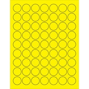 "Tape Logic® Circle Laser Labels, 1"", Fluorescent Yellow, 6300/Case (LL191YE)"