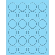 "Tape Logic® Circle Laser Labels, 1 5/8"", Pastel Blue, 2400/Case (LL193BE)"