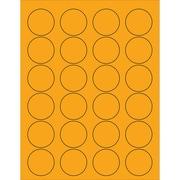 """Tape Logic® Circle Laser Labels, 1 5/8"""", Fluorescent Orange, 2400/Case (LL193OR)"""