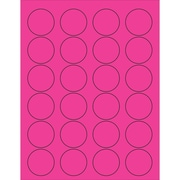 "Tape Logic® Circle Laser Labels, 1 5/8"", Fluorescent Pink, 2400/Case (LL193PK)"