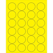"Tape Logic® Circle Laser Labels, 1 5/8"", Fluorescent Yellow, 2400/Case (LL193YE)"