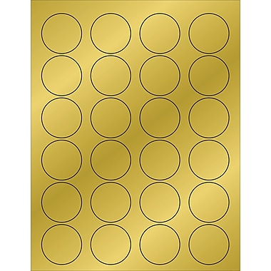 Tape Logic® Foil Circle Laser Labels, 1 5/8