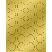 "Tape Logic® Foil Circle Laser Labels, 1 5/8"", Gold, 2400/Case (LL216GD)"