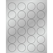 "Tape Logic® Foil Circle Laser Labels, 1 5/8"", Silver, 2400/Case (LL216SR)"