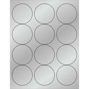 "Tape Logic® Foil Circle Laser Labels, 2 1/2"", Silver, 1200/Case (LL217SR)"