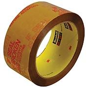 """3M 3732 Pre-Printed Carton Sealing Tape, 2.5 Mil, 2"""" x 55 yds., Tan/Red, 6/Case (T90137326PK)"""