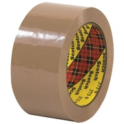 "3M™ Scotch  375 Carton Sealing Tape, 2"" x 55 yds., Tan, 6/Case (T901375T6PK)"