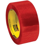 "3M™ Scotch  3199 Security Tape, 2"" x 110 yds., Clear/Red, 6/Pack (T90231996PK)"