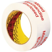 "3M™ Scotch  3775 Printed Message Tape, 2"" x 110 yds., White/Red, 6/Case (T90237756PK)"