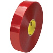 "3M™ Scotch  3779 Pre-Printed Carton Sealing Tape, 2"" x 1000 yds., Clear/Red, 6/Case (46448-5)"