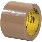 "3M™ Scotch  371 Carton Sealing Tape, 3"" x 55 yds., Tan, 6/Case (T906371T6PK)"