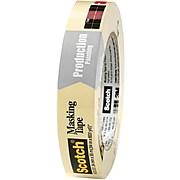 """3M 2020 Masking Tape, 5.2 Mil, 1"""" x 60 yds., Natural, 12/Case (T935202012PK)"""