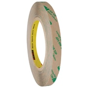 "3M™ 468MP Adhesive Transfer Tape, Hand Rolls, 1/2"" x 60 yds., Clear, 72/Case (19335-4)"