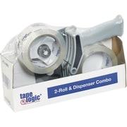 "Tape Logic 2"" x 55 Clear 2-Roll Dispenser Combo (TL2RDC)"