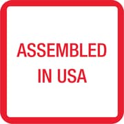 "Tape Logic® Labels, ""Assembled in U.S.A."", 1"" x 1"", Red/White/Blue, 500 PER ROLL (USA303)"