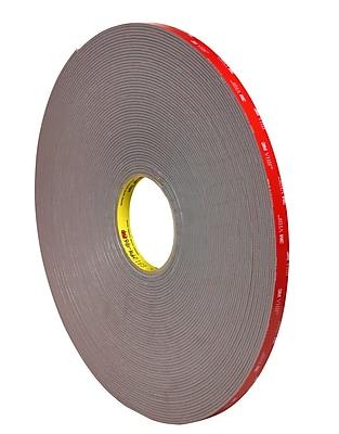 VHB VHB494512R White #4945 Adhesive Tape 1//2 x 5 yd.