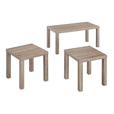 Walker Edison Driftwood Medium Density Fiberboard Sets Table, Grey (SPES3PKAG)