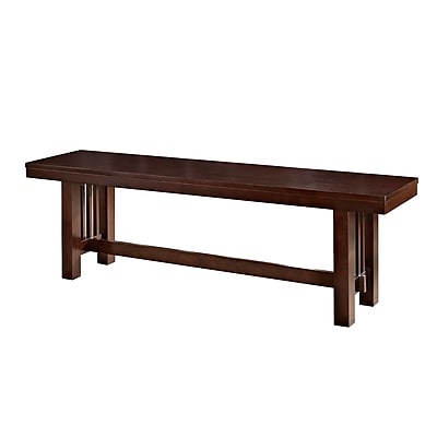 Walker Edison Solid Wood Dining Bench, Cappuccino (SPBM1CNO)