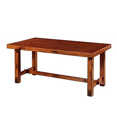 Walker Edison – Table de salle à manger en bois massif, chêne foncé (SPW60HDO)