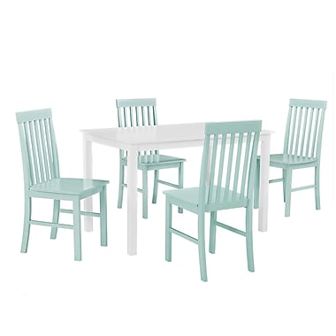 Walker Edison 5-Piece Wood Dining Set, Sage Green (SPW485PCSG)