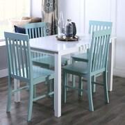 Walker Edison 5-Piece Wood Dining Set; Sage Green (SPW485PCSG)