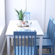 Walker Edison 5-Piece Wood Dining Set; Powder Blue (SPW485PCPB)