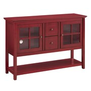 """Walker Edison 52"""" Console Table TV Stand; Antique Red (SP52C4CTRD)"""