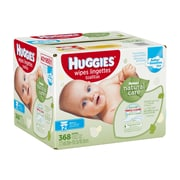 Huggies Natural Care Baby Wipes Refills, 368 Wipes/Box, (43195)