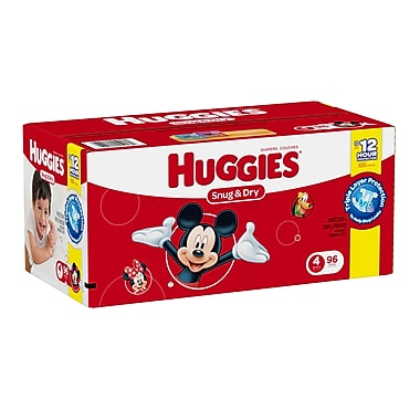 Huggies Snug and Dry Diapers Giga Jr. Step 4, 96 Diapers/Box, (45918)