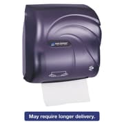 San Jamar Mechanical Hands-Free Towel Dispenser, 12 3/8 X 7 5/8 X 12 1/4, Black Pearl