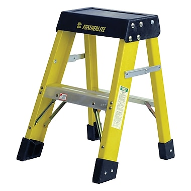 Featherlite Industrial Heavy-Duty Fibreglass Stepladders (6400 Series), 2'
