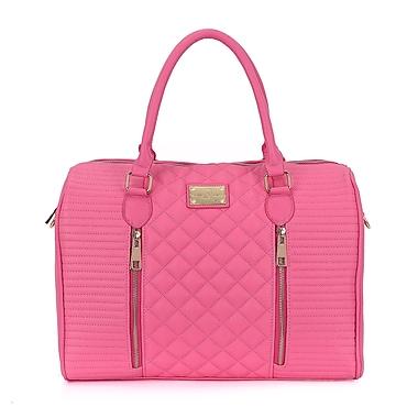 Sandy Lisa – Sac fourre-tout Siena matelassé, rose, pour portables de 14,1 po et tablettes de 10,1 po, (SLSIE-TOPK-14)